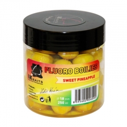 Kulki hakowe Fluoro Boilies Sweet Pineapple 18mm 250 ml